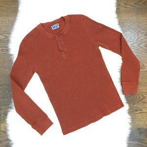 J Crew Long Sleeve Waffle Knit Henley Top S Cotton
